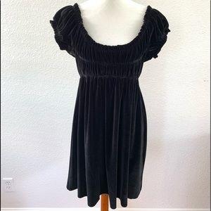 Free People Black Velvet Dress